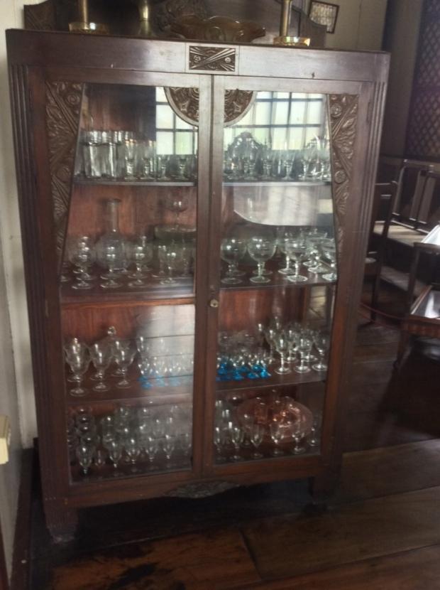 Balay ni Tana Dicang Wine Glasses Cabinet