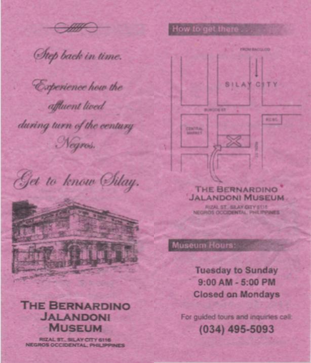 Jalandoni Museum Brochure